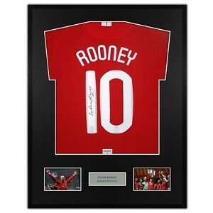 Wayne Rooney Signed Manchester United Framed Shirt FINAL 07/08 Red Home Moscow