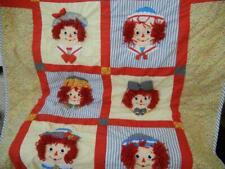 "Euc The Original Raggedy Ann & Andy 3D Reversible Floral Nursery Quilt 46"" X 54"""