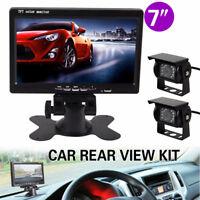 AU Monitor Car Rear View Camera CCD IR LED Reverse Waterproof Night Vision Kit