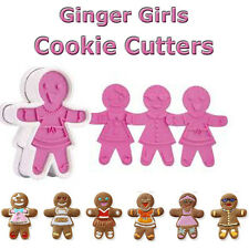 Christmas Ginger Girls Cookie Cutters, Gingerbread Man, Xmas Baking Decorating