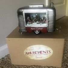"""Roman Amusements Christmas Happy Camper 9"""" Lighted Music Animated New In Box"""