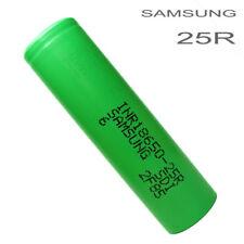 Samsung 25R Green 2500mah 18650 Battery High Drain Li-Ion Inr18650-25r - Flat