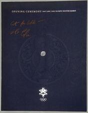 MARIO LEMIEUX Autograph Signature OPENING CEREMONY 2002 Olympic Winter Games