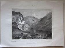 1838 ROC DU SAINT litografia Tirpenne Allier Desrosiers Montluçon