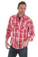 Wrangler Retro Men's Red Plaid Long Sleeve Pearl Snap Western Shirt MVR336M NWT