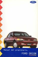 1996 FORD ORION MANUEL DEL PROPIETARIO OWNER'S MANUAL BETRIEBSALEITUNG ARGENTINA