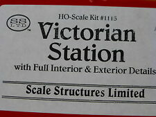 Scale Structures Ltd. HO #1115 Victorian Station Kit w/Full Interior & Exterior