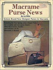 VTG Macrame Purse Patterns Macrame Purse News Craft Publication 7332