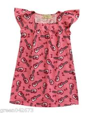 Girls Kids/Toddlers Pink Guitar Sleepdress/Nightdress Sleepwear, XL (6-8 y/o)