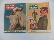 LOT OF 2 FARM JOURNAL AND FARMER'S WIFE January & February 1942