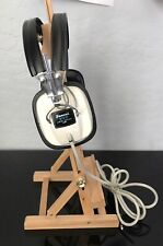 Vintage SANSUI Stereo Headphones SS-2 White TESTED Hi-Fi Audiofile Sound Great!