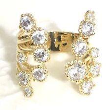 Handmade Round Diamond Ring Women Wedding Engagement Jewelry Yellow Gold Gift