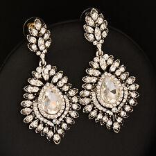 2018 Hot Luxury Vintage Brilliant Crystal Big Chandelier Earrings For Female