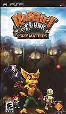 PSP Ratchet & Clank Size Matters; includes game; case & manual