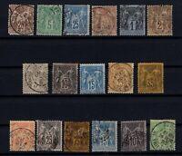 Q139700/ FRANCE – YEARS 1876 - 1900 USED CLASSIC LOT – CV 195 $