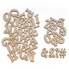 individual mini small belshaw wooden mdf letters numbers alphabet 3mm thick