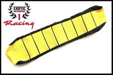 Ribbed Gripper Seat Cover Black/Yellow Suzuki RM125 RM250 2001-2011
