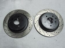Pair of New Disc Brake Rotors  Rear  Drilled & Slotted  fits 2013 Infiniti G37