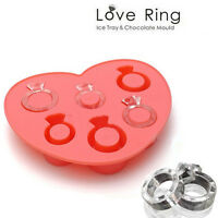 Silicone Love Ring Ice Cube Tray Freeze Bar Jelly Pudding Chocolate Mold Mould
