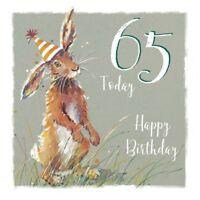 65th Birthday Card - Rabbit Design - The Wildlife Ling Design Male Female NEW