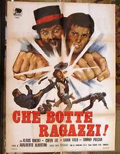 CHE BOTTE RAGAZZI KLAUS KINSKY Italian movie Poster (2F) 70s