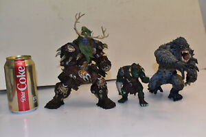 Lot of 3 Resin Monsters, McFarlane Conan Man Eating Hunter, Bluebox, Antler Man