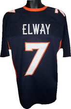 John Elway unsigned Navy Custom Stitched Pro Style Football Jersey XL