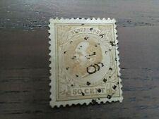 Nederland NVPH 27 Koning Willem III 1872-1888 50 cent geelbruin gestempeld