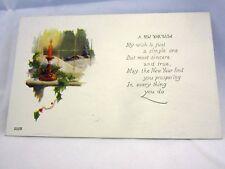 A New Year Wish 1910's Era Postcard Unused Series 552B