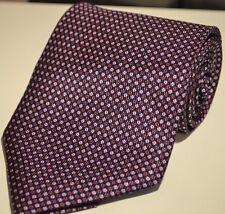Izod Men's 100% Silk Dress Necktie Navy Red Geometric