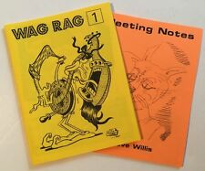 WAG RAG #1 / MEETING NOTES underground comix WILLIS Langridge SIERGEY mini-comic