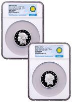 2-Coin (2017) Smithsonian Barber $50 Half-Union Silver Medal NGC GEM PF SKU49960