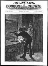 1884 bBurning of the Stadt Theatre VIENNA: Watchman St Stephen's Steeple (132)