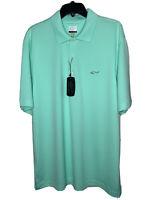 Greg Norman Men's XL Play Dry Mint Green Short Sleeve Golf Polo Shirt NWT
