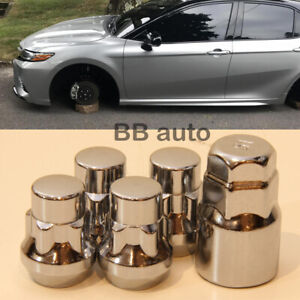 Wheel Lock Nuts 12x1.5 Bolts Studs Bulge Acorn Locking Nuts x4 For Honda Toyota