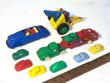 Vintage Lot of Plastic Cars / Trucks / Cannon & Vtg Renwal Convertible Nice Lot!