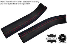 RED STITCHING 2X DOOR REAR SILL TRIM LEATHER COVERS FITS CORVETTE C6 05-13