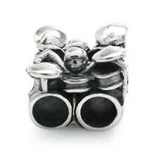 925 Sterling Silver DRUM SET Threaded European Charm Bead