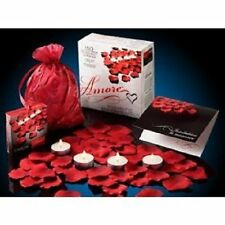 Valentine Amore Romantic Gift Set with scented floating silk bed rose petals