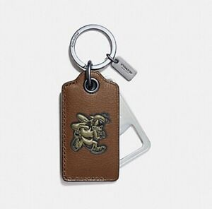 COACH F18888 VARSITY BOTTLE OPENER KEY FOB