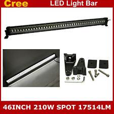 46inch 210W Single Row CREE Flashing LED Light Bar Spot Offroad 4WD Truck Strobe