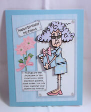 """Handmade""~HUMOROUS 3D~FRIEND BIRTHDAY CARD~BY D~#474"