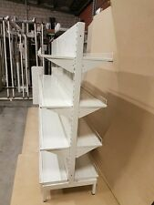 Retail Shelves 1800Hx1200x650D Double Sided Gondola 2 bays = 2.4m long