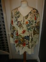 O-NELUE SIZE 3XL PRETTY FLORAL 3/4 SLEEVE SMOCK/BLOUSE