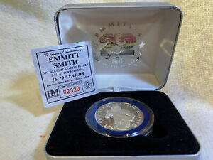 Emmett Smith - One Troy oz. Silver Coin - NFL All Time Leading Rusher - # 02320