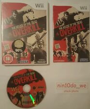 THE HOUSE OF THE DEAD OVERKILL (Wii)=CERT 18 VIOLENT ZOMBIE KILLING=NO MANUAL✔