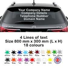 Personalised Business Rear Window Car & Van - Decal Vinyl Signs Stickers Custom