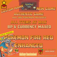 Pokemon Fire Red Authentic | Enhanced All 386 Pokemon | GBA Gameboy Advance
