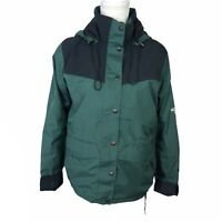 VTG The North Face Women XS Imperfect HydroSeal Hooded Jacket Mesh Lined Green