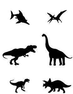 Dinosaurs Durable & Reusable Plastic Stencils 7x5